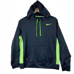 Nike Men's Therma-Fit Green and Black Pullover Med